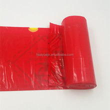 Extra large capacity biohazard drawtape trash bag interleaf coreless roll plastic garbage bag for hospital use