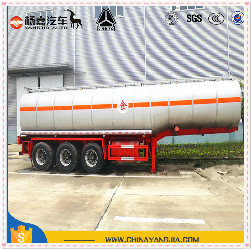 Olive Oil Tank Oil Fruit Juice Milk Palm Oil Liquid Food Transport Tanker Semi Trailer