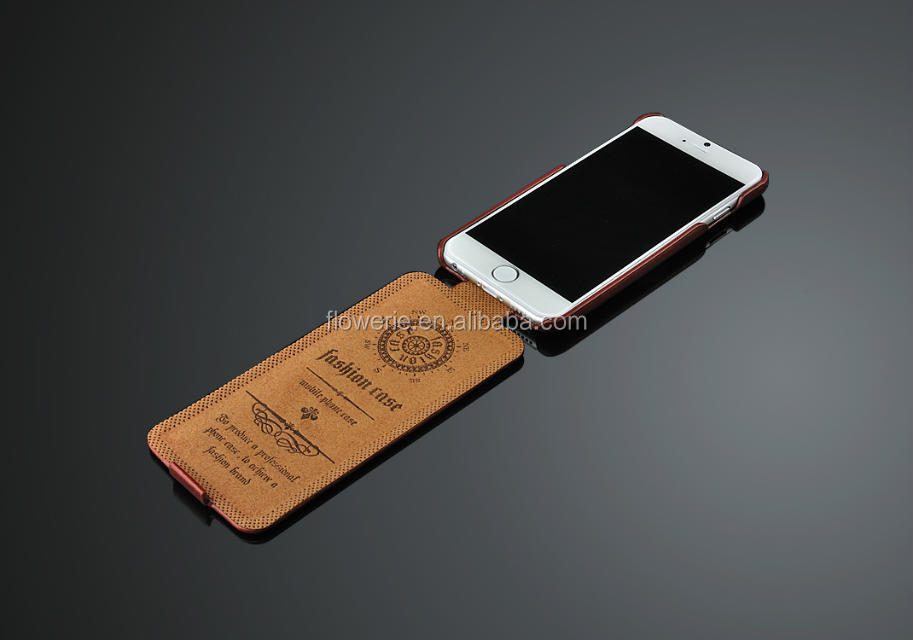 FL2545 Fashion Ultra Thin Oil Wax Pu Leather Flip Cover Case for iPhone 6