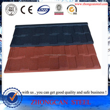 Hot Exported to Canada Stone color coated steel roofing Shingle Tiles