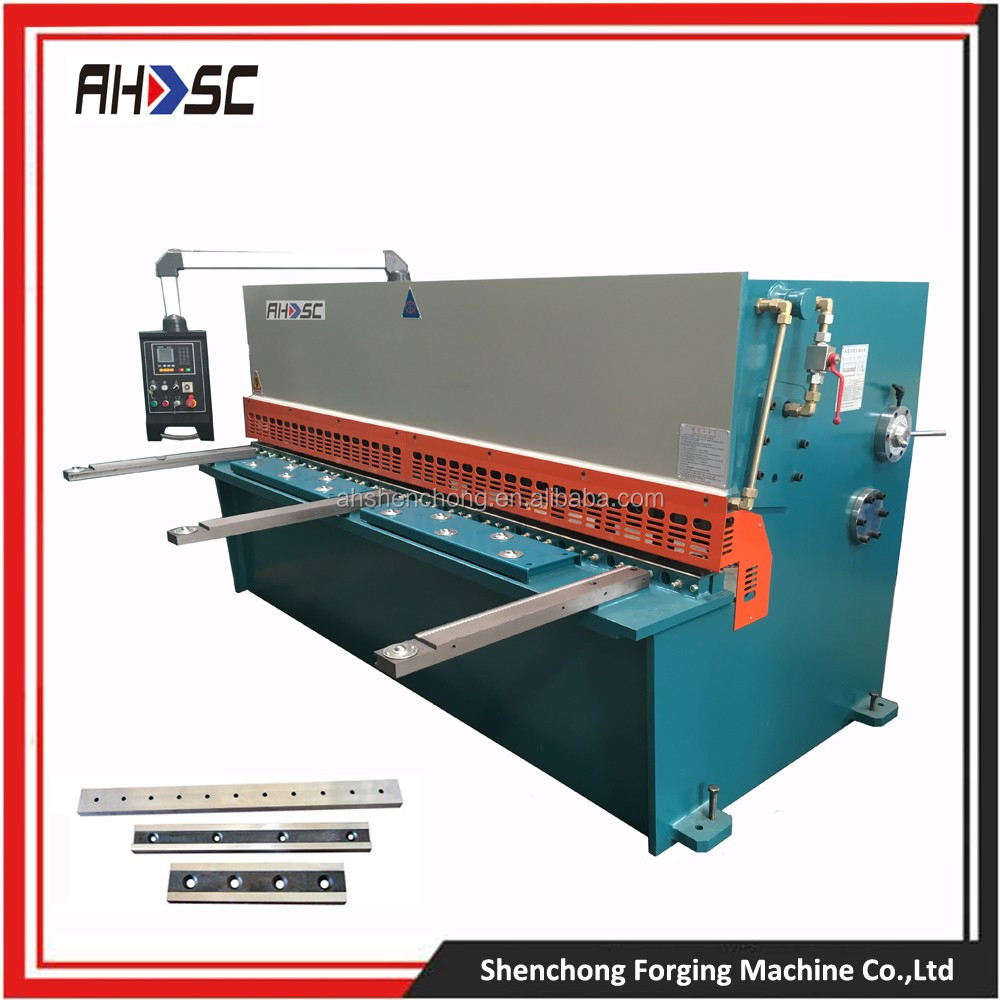 Heavy Duty E21S Control System shearing machine specification QC12K 40X3200MM iron cutting machine price