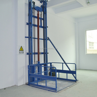 Vertical electric cargo elevator lift