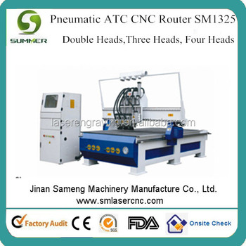 M25 Three heads Hot sale Best price china cnc router machine for carving wood