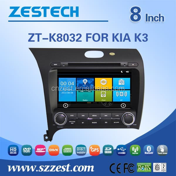 car dvd gps studio For KIA K3 car gps with auto radio Bluetooth SD USB Radio wifi 3G
