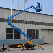 Pickup cherry picker man lift articulating arm aerial work platform vehicle truck mounted boom lift