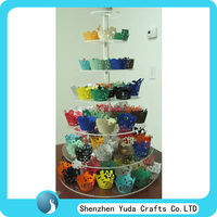 7 tier round acrylic cupcake display stand wholesale tiered plastic cake stand