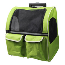 Traveler Rolling Pet Carrier Backpack for Small Cats and Dogs