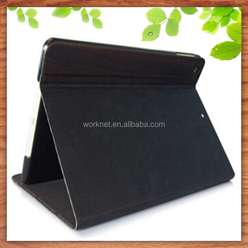 hot selling fashion product wood leather tablet cover for ipad mini smart case