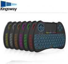 7 Colors Mini Backlight Keyboard H9 Remote Control 2.4G Wireless Mini Keyboard Touchpad Air fly mouse