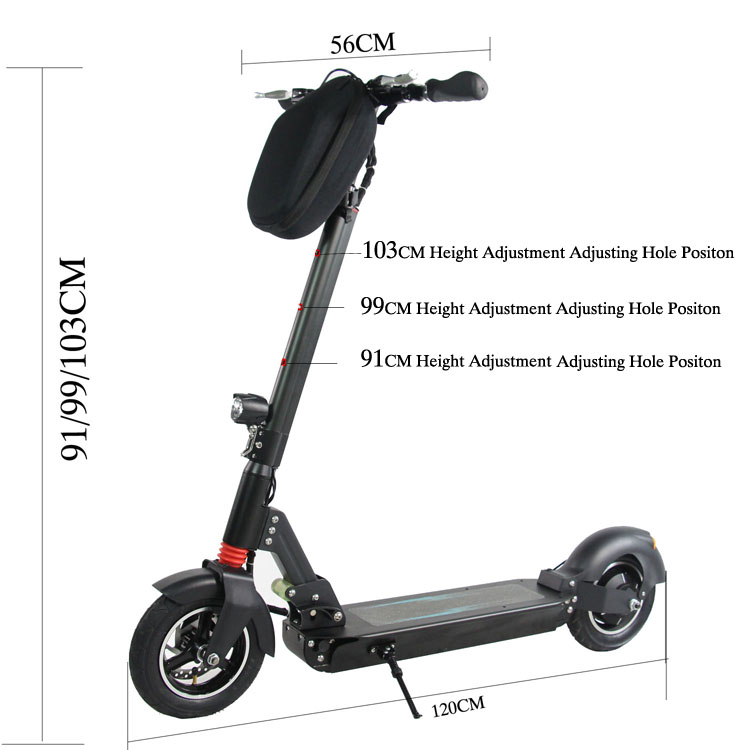 Leadway foot electric scooter for adult 10inch dual motor electric scooter 500W high speed 48V lithium battery(L9-600)