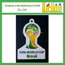 offset printed world cup football campaign souvenir car paper air freshener