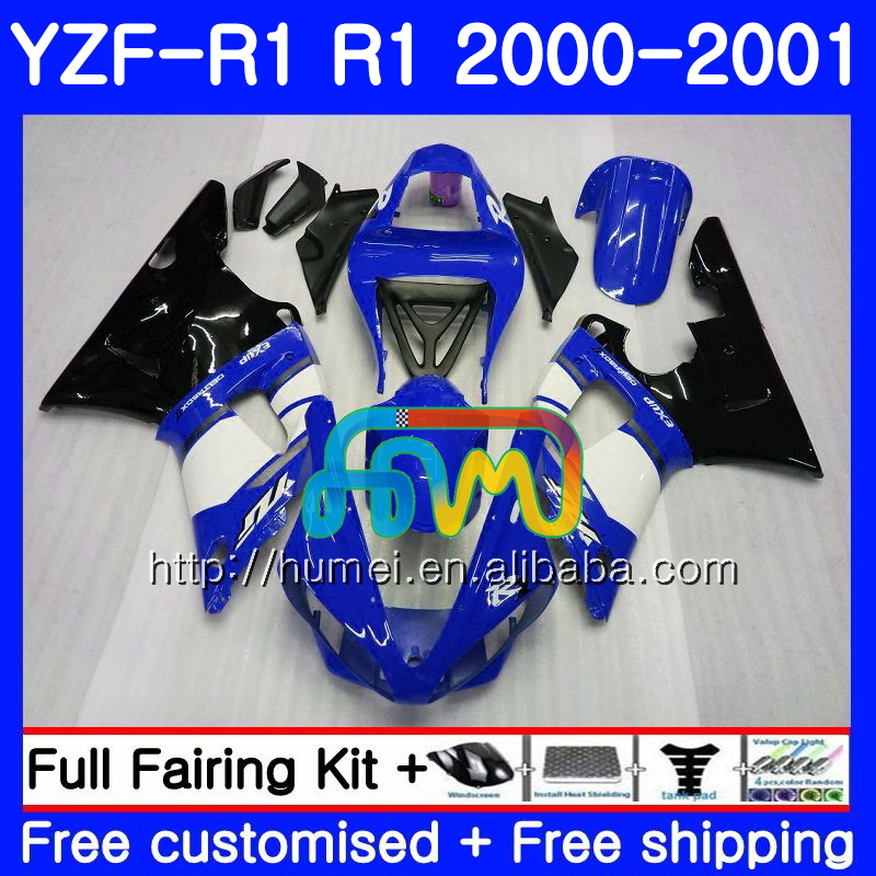 Bodywork For YAMAHA YZF 1000 blue black YZF-<strong>R1</strong> 2000 <strong>2001</strong> Body 98HM40 YZF1000 YZF R 1 YZFR1 00 01 YZF-1000 YZF <strong>R1</strong> 00 01 Fairing