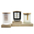Matte black white glass candle holder with wooden lid/300ml 500ml glass candle jar