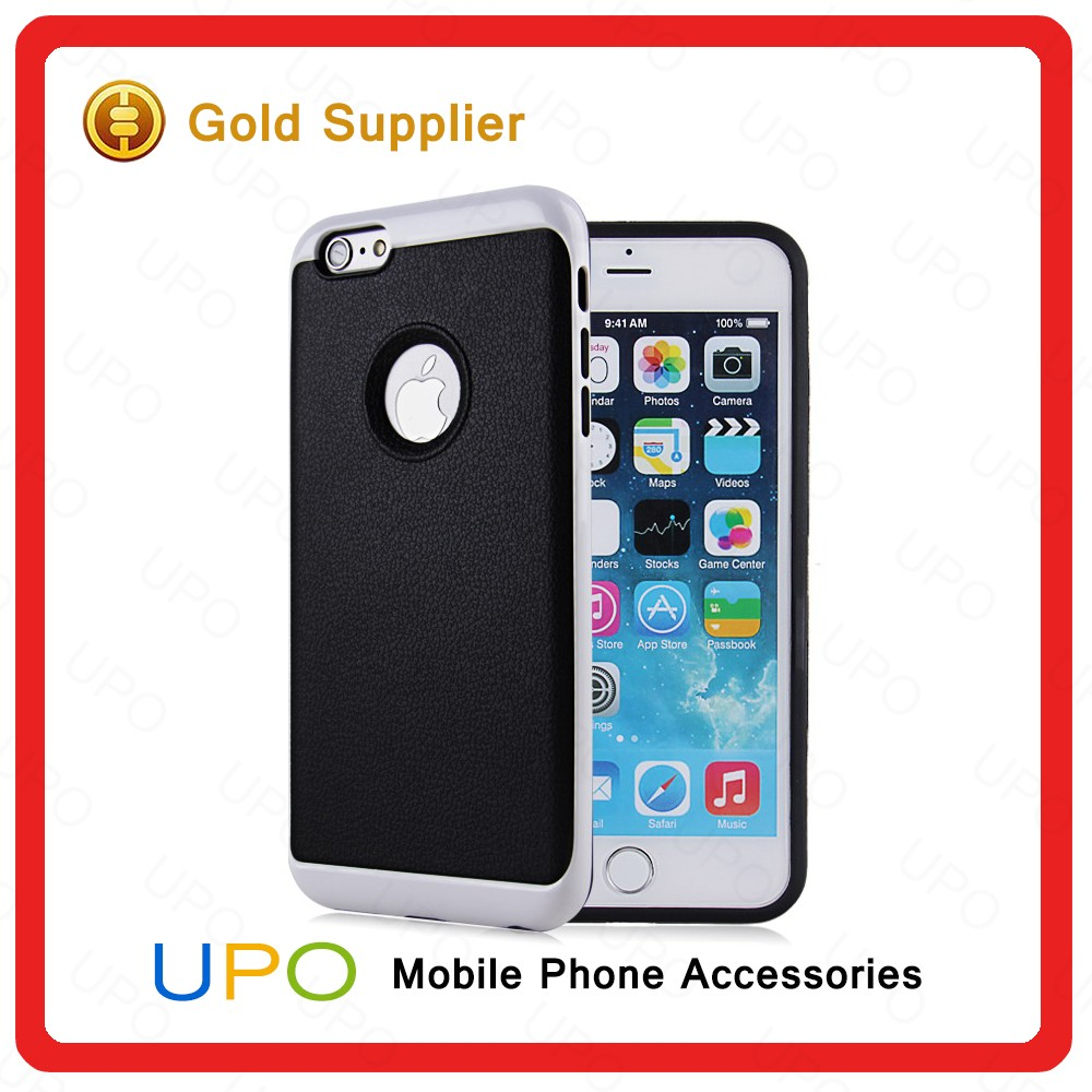 [UPO] New arrival 2 in 1 PU Leather +TPU+PC Hybrid Combo Cell Phone Case for iPhone 6 6s