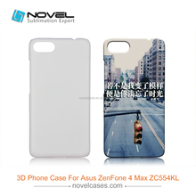 For Asus Zenfone 4 Max ZC554KL Diy Sublimation Blank 3D Phone Cover Case