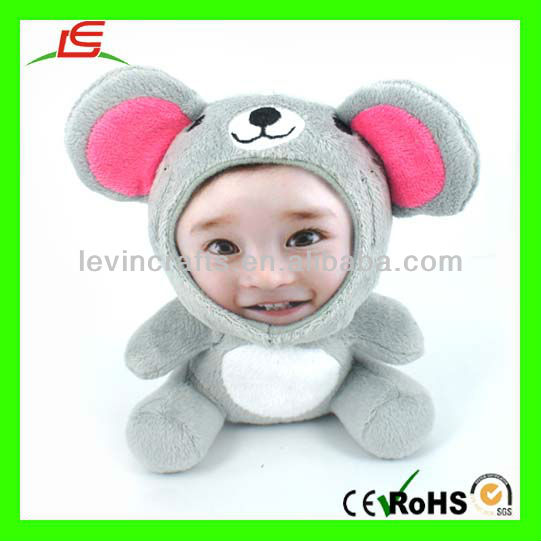 LE-D474 Personalized 3D Face Doll 18cm Mouse Stuffed Plush Synthetic Doll