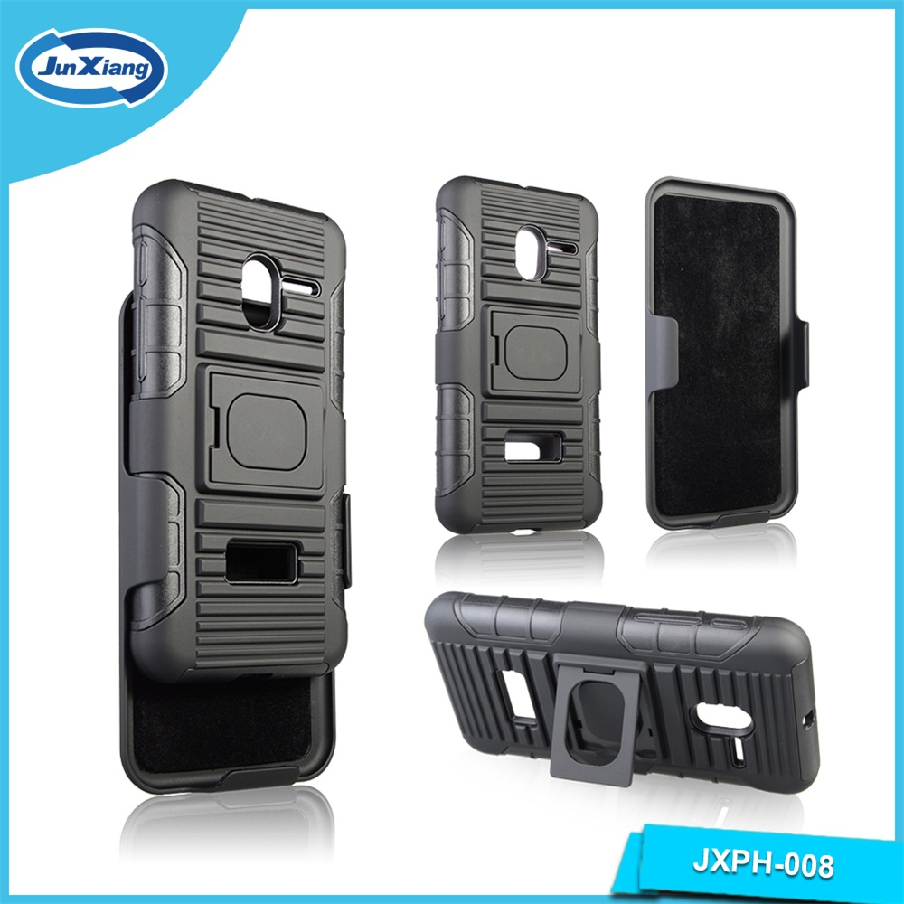 High quality 3 in 1 Combo Kickstand Heavy Duty Armor Belt Clip Holster Phone Cases For Alcatel 5015