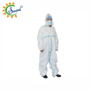 disposable nonwoven breathable film protective coverall disposable work overalls disposable coverall with hood
