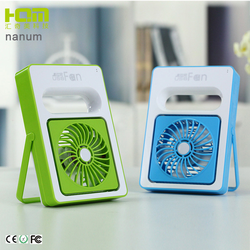 Oem Green Handheld Fans Battery Operated With Battery