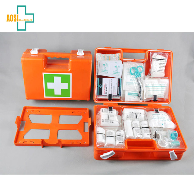 Home plastic case first aid kits with alcohol prep pad