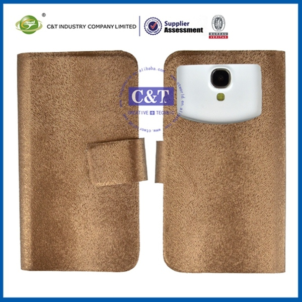 2014 Popular Smartphone leather flip case for samsung galaxy s4 mini i9190