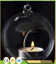 Wholesale High Quality and Fashional Design Hanging Glass Ball Candle Holder