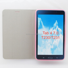 stitching TPU leather case for Samsung Galaxy Tab 4 T230 T231