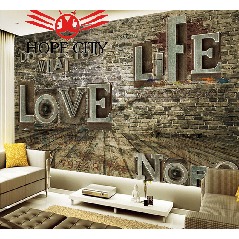 Retro Nostalgic Relief Letter TV Wall ceramic tiles