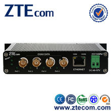 ZTEcom Excellent Power Saving 4 ports 10/100/1000M Ethernet over Coaxial Converter
