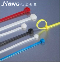 2016 factory manufacturer hot sale free sample self lock 100pcs package Colorful Self Locking Nylon 66 Cable Zip Tie