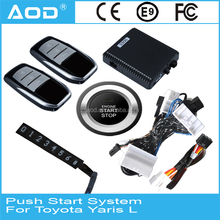 For Toyota Yaris L engine start stop button system with remote engine start