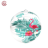 custom printed paper lantern Cheap Decorative Paper Watermelon Lantern for Party Decoration