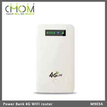 100Mbps 4G WIFI router with power bank 5200mAh, SIM card slot, RJ45 WLAN port --- M903A