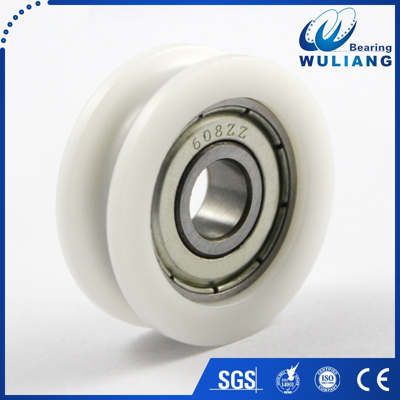 China 608zz sliding gate wheel u groove wheel