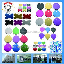 cheap custom Different addresses, names, telephone aluminum anodized bone shaped qr dog id tags