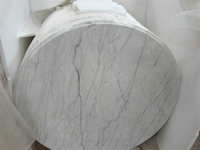 Custom cut bianco carrara white marble dining table top