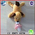 Soft Cute Animal Infant Plush Toy BB Squeaker Detachable Pacifier / Plush Detachable Animal Pacifier Toy