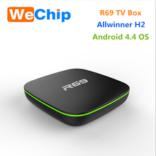 ott tv 4k Allwinner H2 Android 4.4 1G 8G Android Smart TV Box R69 from Wechip