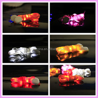 Eighth led lights with nylon shoelace dance sports flash luminous shoelace