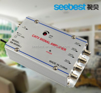 4 WAY INDOOR CATV AMPLIFIER GAIN 20dB PROFESSIONAL POWER AMPLIFIER