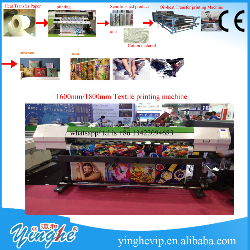 high quality eco <strong>solvente</strong> plotter jato de tinta/digital textile printing machine