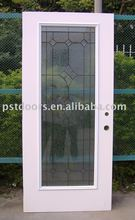 flush door with full view glass, steel glass door