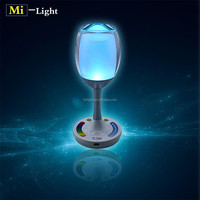 RF rechargeable crystal chandelier table lamp smart RGBW wifi led light decoration