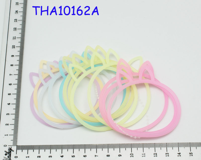 Silicone rainbow color bracelet/mini rubber band no smell
