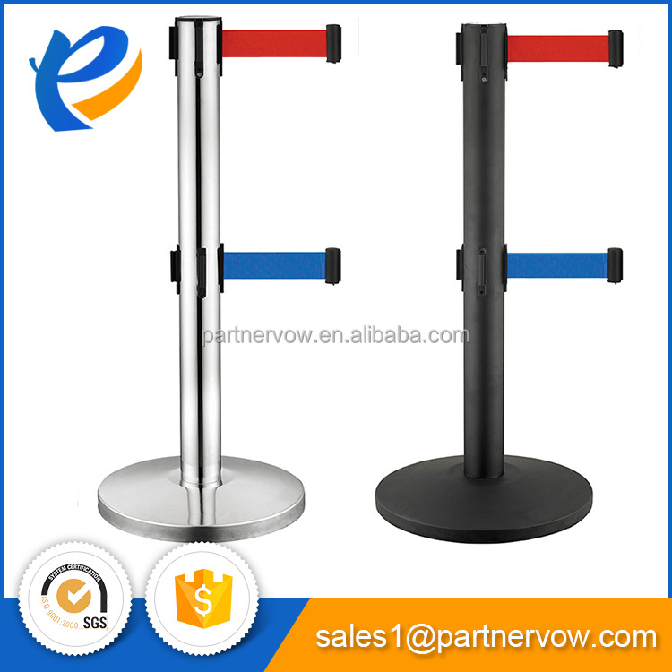 Custom logo steel pipe stanchion with cheapest price