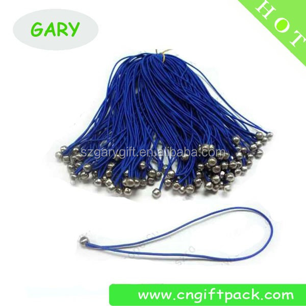blue polyester elastic cord with metal barb end