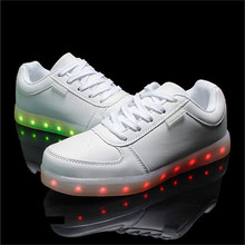 Fashion Sneakers Unisex LED shoes Light up Luminous Lace Up Athletic Sports led Shoes for adult
