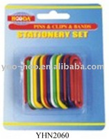50mm plastic paper clip with curve YHN2060