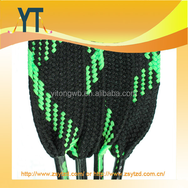 Custom Woven Printing Flat Patterned Laces For Trainers, Skate, Snow Boarding, Boot Laces