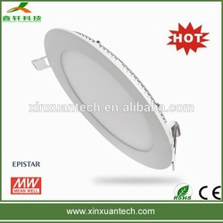AC85-265V 90lm/w aluminum case 6w round led panel light